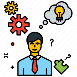business, businessman, creativity, idea, innovation, plan, strategy icon