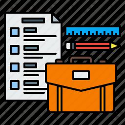 briefcase, business, financial, plan, startup, statement icon