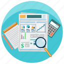 business, calculate, finance, financial, money, report, statistics icon