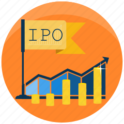 business, finance, grow, initial public offering, investment, ipo, money icon