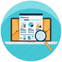 analyze, business, investigation, market, research, search, statistics icon