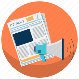 marketing, news, press, press release, product, release, startup icon
