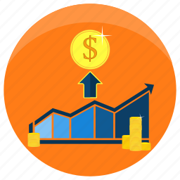business, finance, grow, marketing, money, profit, project icon
