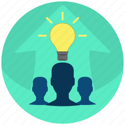 idea, leader, solution, specialist, team, teamleader, work icon