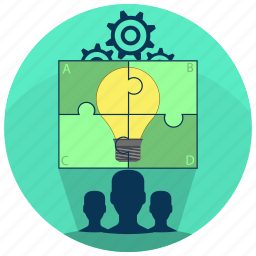 developers, leader, puzzle, solution, team, teamwork, work icon