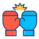 boxing, boxing gloves, fight, gloves icon