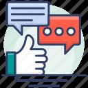 appreciations, bubble, feedback, rate