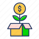 investment, package, product, release icon