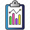 analytics, clipboard, statistics icon