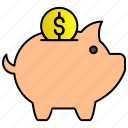 bank, pig, piggy, saving icon