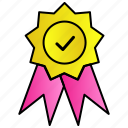 certficate, medal, quality icon