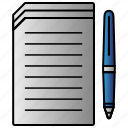 documentation, documents, papers icon