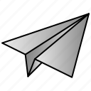 message, paper, plane, send icon