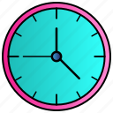 clock, time, whatch icon