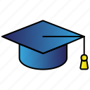 academic, cap, education, graduation, hat icon