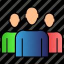customers, people, team icon