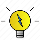 bulb, energy, lamp, light icon
