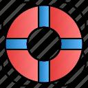 belt, help, life, lifebuoy icon