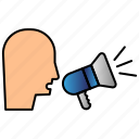 advertisement, announcement, bullhorn, megaphone icon
