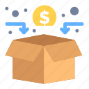 crowd, funding, fundraising, network icon
