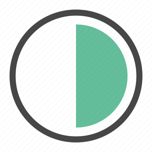 analytics, chart, diagram, pie, quarter, report, stat icon