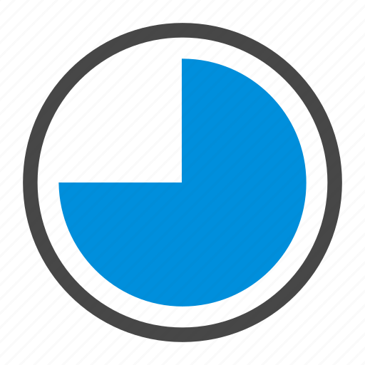 chart, data, piechart, quarter, report, stat, storage icon