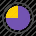 stat, marketing, diagram, analytics, piechart, report, quarter