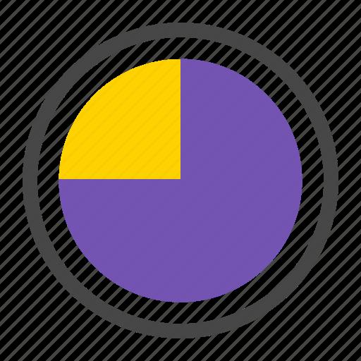 analytics, diagram, marketing, piechart, quarter, report, stat icon