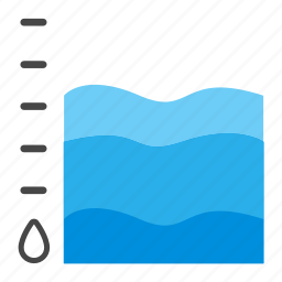 chart, diagram, level, report, stat, statistics, water icon