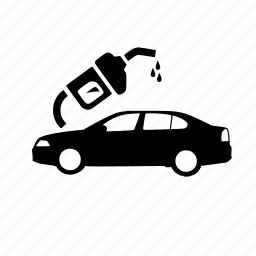 car, drops, filling, fuel, nozzle icon