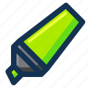 highlighter, marker, pen, stationery icon