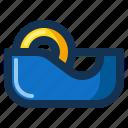 bind, stationery, stick, tape icon