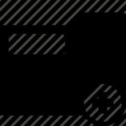 folder, new, plu, stationary, system icon
