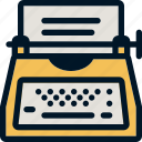 keyboard, typewriter, typing, writer icon