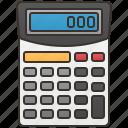 accounting, calculator, digital, mathematics, number icon