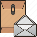 document, envelope, letter, package, postal icon
