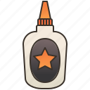 adhesive, bottle, craft, glue, stationery icon
