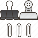 binder, holder, office, paperclip, sheets icon