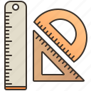 circle, geometric, measurement, ruler, triangle icon
