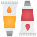 artist, paint, pigment, tube, watercolor icon