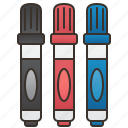 marker, pen, stationary, supplies, writing icon