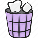 dust bin, recycle bin, recycle container, recycling can, trash bin icon
