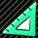 triangular scale, geometry, ruler, architect scale, stationery icon