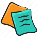 reminder pad, office paper, notepad, paper post, sticky notes, memos icon