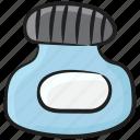 ink, ink bottle, ink jar, inkpot, stationery