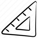 geometry, ruler, architect scale, triangular scale, stationery icon
