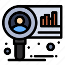 chart, diagram, market, research icon