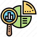 accounting, analysis, chart, infographic, results icon