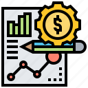 analytic, financial, report, statistic, summarize icon