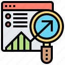 analysis, finding, graph, result, statistic icon